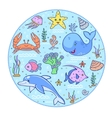 colorful underwater world vector image vector image