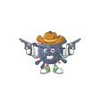 cool cowboy coronavirus epidemic holding guns vector image vector image