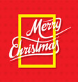 creative merry christmas greeting design vector image