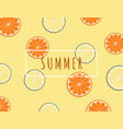 creative summer background with tropical fruits vector image vector image