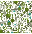 Ecology seamless pattern vector image vector image