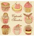 Fancy Cupcakes vector image vector image