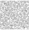 Fast food menu Set of cartoon seamless vector image