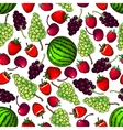 Fresh fruits berries seamless pattern background vector image vector image