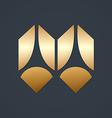 geometry shiny decorative logo vector image