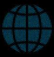 globe collage icon of halftone bubbles vector image vector image