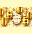 golden eggs realistic easter sale banner vector image vector image