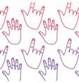 hand gesture pattern image vector image