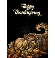 happy thanksgiving cornucopia or horn plenty vector image vector image