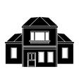 house traditional detailed modernn pictogram vector image