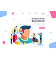ideas for analysis landing page vector image