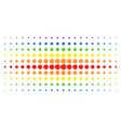 internet spectral halftone array vector image vector image