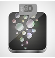 Metal app icon vector image