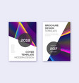 modern cover design template set rainbow abstract vector image