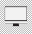 monitor on transparent background monitor sign vector image vector image