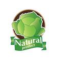 natural product logo vector image vector image