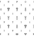 necktie icons pattern seamless white background vector image vector image