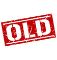 old square grunge stamp vector image vector image