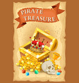 Pirate Treasure Poster vector image vector image