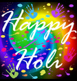 postcard on the festival of colors in india holi vector image vector image