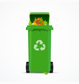 realistic 3d detailed recycled bin vector image