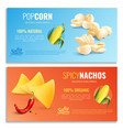 realistic corn horizontal banners vector image vector image
