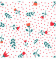 red and white flower seamless repeat pattern vector image vector image
