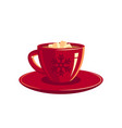 red cup coffee or chocolate vector image