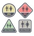 Restroom flat symbols set vector image vector image