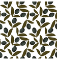 Seamless texture with olive fruits vector image