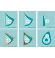 set icons for breast surgery vector image
