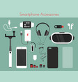 set of different phone vector image vector image