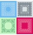 Set of simple and bright monogram frame with copy vector image vector image
