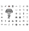 skydiving paraglider paraplane icon summer vector image vector image