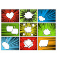 speech radial elements comic cartoon shapes for vector image