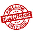 stock clearance round red grunge stamp vector image vector image