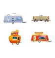 trailer icon set cartoon style vector image