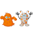 Two cute little monsters vector image vector image