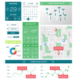 Ui templates and elements of infographics vector image vector image