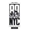 vintage bikers club t-shirt logo vector image vector image