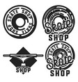 vintage skate shop emblems vector image