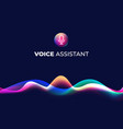 voice assistant concept page personal mobile vector image
