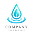 water drop logo template falls for health vector image