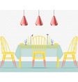 with dining room in flat style vector image vector image