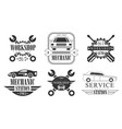 workshop station premium retro labels set vector image vector image