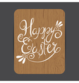 easter wooden card vector image