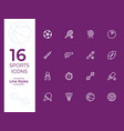 16 sports icon sports symbol modern simple vector image vector image