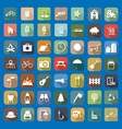 49 Universal Flat Icons vector image