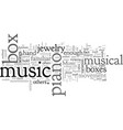 a fine piano music box is a work of art vector image vector image