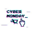 a white background with text for cyber monday vector image vector image